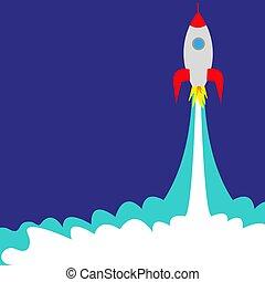 lancha barco, cohete, espacio