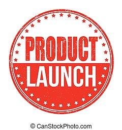 lancio, francobollo, prodotto