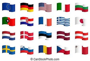 land, 2, vlaggen, verzameling