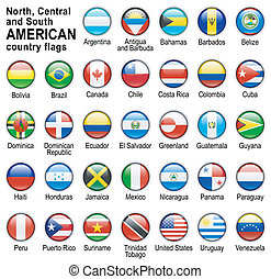 land, amerikaanse vlaggen