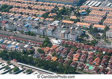 Land and property business from aerial view