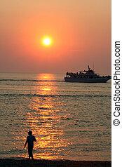 Land And Sea Sunset