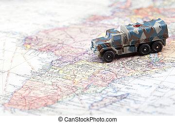 land, bepansrad fordon
