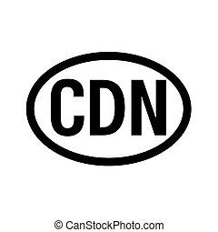 land, code, de registratie van het voertuig, canada