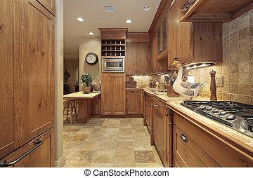 land, ek, cabinetry, kök