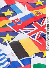land, enigszins, vlaggen