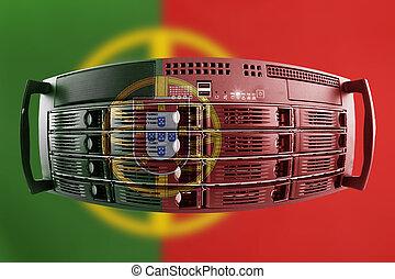 land, fahne, begriff, portugal, server