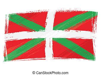 land, fahne, grunge, baske