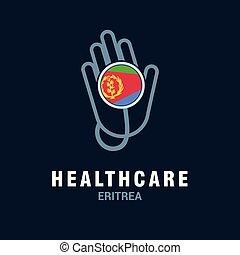 land, fahne, vektor, design, logo, gesundheitspflege