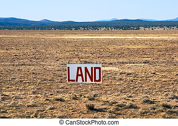 A large parcel of Arizona desert for sale.