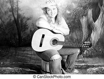 land, kvinna, musik