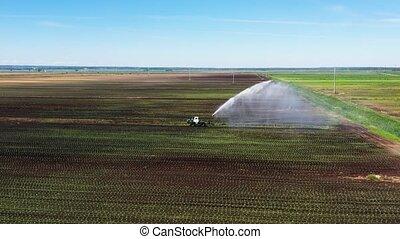 land., landbouwkundig, het systeem van de irrigatie