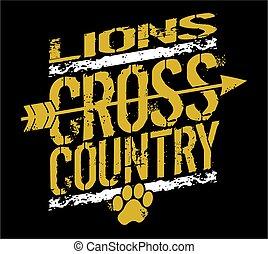 land, lejonen, kors