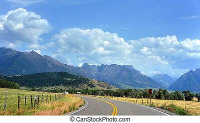 land, montana, snelweg