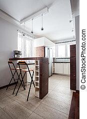 land, oberseite, bankschalter, -, haupt küche