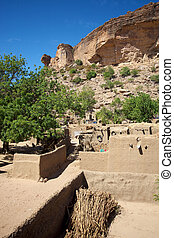 Land of the Dogons - Small Dogon village somewhere on the ...