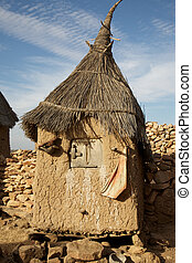 Land of the Dogons - Typical Dogon architecture (Male ...