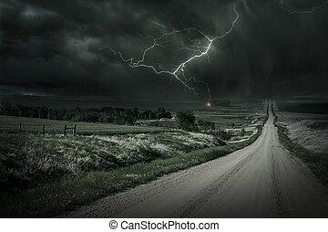 land, oväder