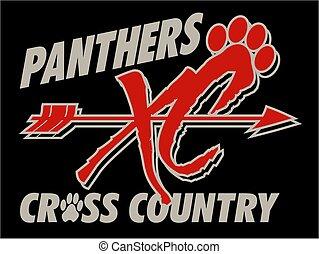 land, panther, kreuz