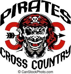 land, piraten, kreuz