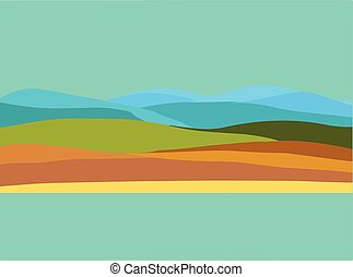 Land, sea, and Sky Vector Landscape