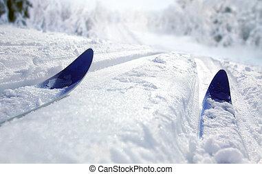 land, ski, kreuz