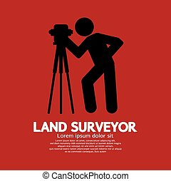 Land Surveyor Black Graphic Symbol. - Land Surveyor Black...