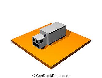 Land Transport 3d Collection Series in Orange