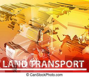 Land transport Abstract concept digital illustration -...
