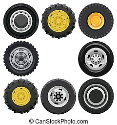 Land transport wheels - Different wheels for land transport