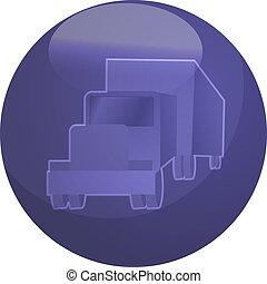 land, truck transport, illustratie