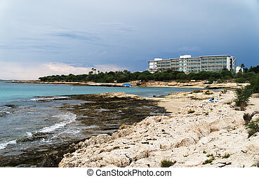Landa Beach in Ayia Napa, Cyprus.