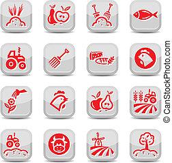 landbouw, landbouw, iconen