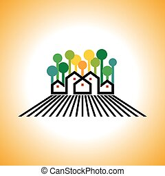 landbouwbedrijfhuis, vector