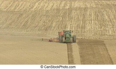 landbouwkundig, het bereiden, crop., aanplant, mechanisme,...