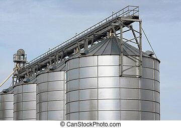landbouwkundig, opslagtanks