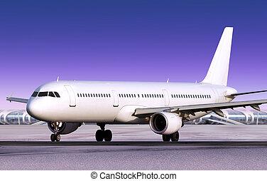 landed passenger plane