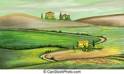 landelijk landschap