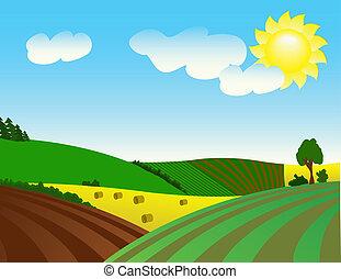 landelijk, milieu, voorspoedig, la