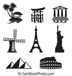 landemærker, iconerne