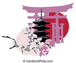 landemærker, japansk
