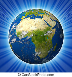 landen, oostelijk afrika, middelbare , aarde, het voorkomen