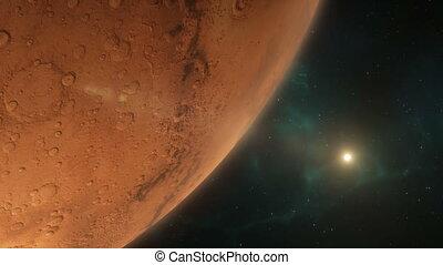 Lander Approaching Mars
