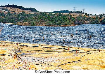 landfill, desperdício, local