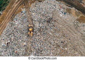 landfill, luftblick