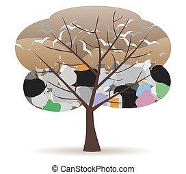 landfill tree - landfill site in a tree