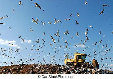 landfill, werkende