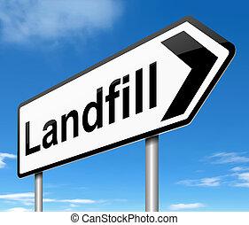 landfill, zeichen.