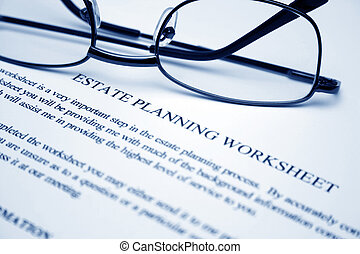 landgoed, planning, worksheet
