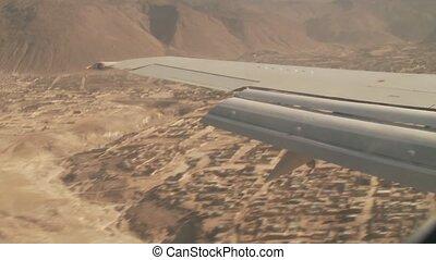 Landing Airplane, Andes - Landing Airplane, Arequipa, Peru